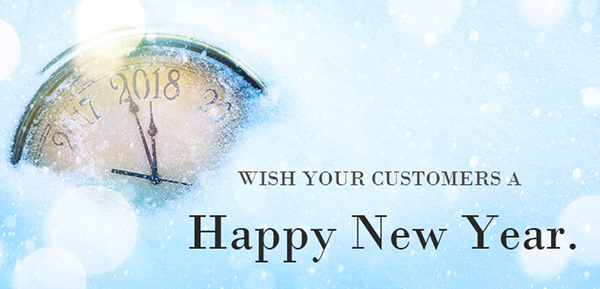 Wish your customers a Happy New Year.